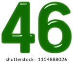 numeral 46  forty six  isolated ... | Shutterstock . vector #1154888026