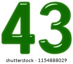 numeral 43  forty three ... | Shutterstock . vector #1154888029