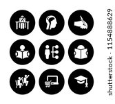 studying icon. 9 studying set... | Shutterstock .eps vector #1154888629