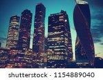 landscape skyscrapers night  ... | Shutterstock . vector #1154889040