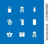 9 dead icons in vector set.... | Shutterstock .eps vector #1154889880
