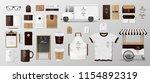 mockup set for coffee shop ... | Shutterstock .eps vector #1154892319