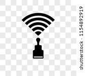 wireless vector icon isolated...   Shutterstock .eps vector #1154892919