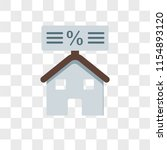 mortgage vector icon isolated... | Shutterstock .eps vector #1154893120