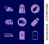 vehicle vector icons set. with...   Shutterstock .eps vector #1154893486