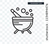 cauldron vector icon isolated... | Shutterstock .eps vector #1154894476