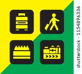 4 packing icons in vector set.... | Shutterstock .eps vector #1154896336