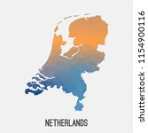 netherlands holland map in... | Shutterstock .eps vector #1154900116