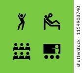 4 instructor icons in vector... | Shutterstock .eps vector #1154903740