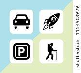 4 street icons in vector set....   Shutterstock .eps vector #1154903929