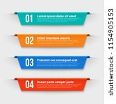 infographic banners. color... | Shutterstock .eps vector #1154905153