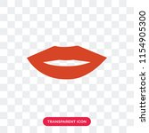 mouth vector icon isolated on... | Shutterstock .eps vector #1154905300