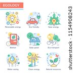 ecology concept icons  | Shutterstock .eps vector #1154908243