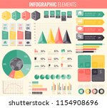 collection of infographic... | Shutterstock .eps vector #1154908696