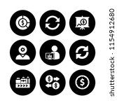 stock icon. 9 stock set with... | Shutterstock .eps vector #1154912680