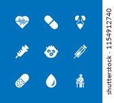 illness icon. 9 illness set... | Shutterstock .eps vector #1154912740