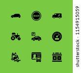 9 vehicle icons in vector set....   Shutterstock .eps vector #1154915059