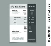 invoice template. bill with... | Shutterstock .eps vector #1154915713