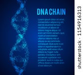 the structure of the dna chain...   Shutterstock . vector #1154916313