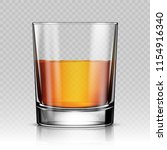glass of whiskey isolated... | Shutterstock .eps vector #1154916340