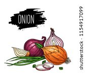 hand drawn isolated onion ...   Shutterstock .eps vector #1154917099
