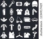 set of 25 icons such as scarf ...