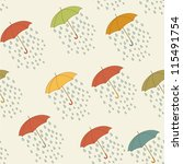 autumn umbrella and rain... | Shutterstock .eps vector #115491754