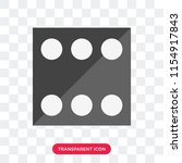 dice vector icon isolated on... | Shutterstock .eps vector #1154917843