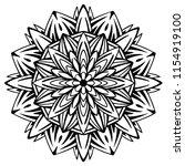 flower mandala. vintage... | Shutterstock .eps vector #1154919100