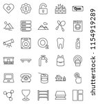 thin line vector icon set  ... | Shutterstock .eps vector #1154919289