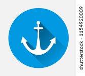 anchor icon. vector... | Shutterstock .eps vector #1154920009