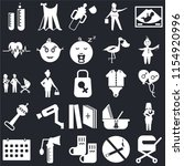 set of 25 icons such as pram ...