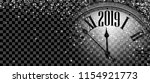black and silver shiny 2019 new ... | Shutterstock .eps vector #1154921773