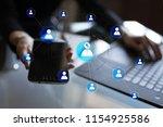 organisation structure chart ... | Shutterstock . vector #1154925586