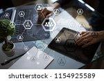 organisation structure chart ... | Shutterstock . vector #1154925589