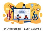 coding concept. programming and ... | Shutterstock .eps vector #1154926966
