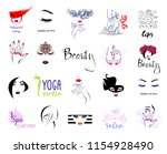 vector set beauty logo  woman's ... | Shutterstock .eps vector #1154928490