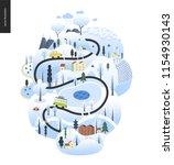 magical winter landscape  ...   Shutterstock .eps vector #1154930143