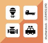 4 car icons in vector set....   Shutterstock .eps vector #1154931190