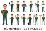 gardener man  cartoon character ... | Shutterstock .eps vector #1154933896