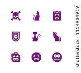 evil icon. 9 evil set with... | Shutterstock .eps vector #1154934919
