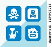 scary icon. 4 scary set with... | Shutterstock .eps vector #1154935213