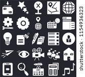 set of 25 icons such as music...