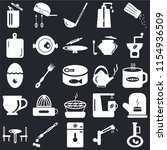 set of 25 icons such as olive...