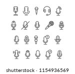 set of microphone icons vector...