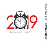 2019 new year coming soon card | Shutterstock .eps vector #1154937949