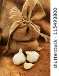 Jute Sack With Ripe Garlic  O...