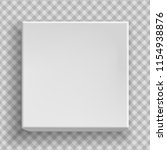 white blank paper box 3d top of ... | Shutterstock .eps vector #1154938876