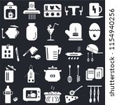 set of 25 icons such as cutlery ...