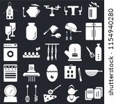 set of 25 icons such as recipe  ...